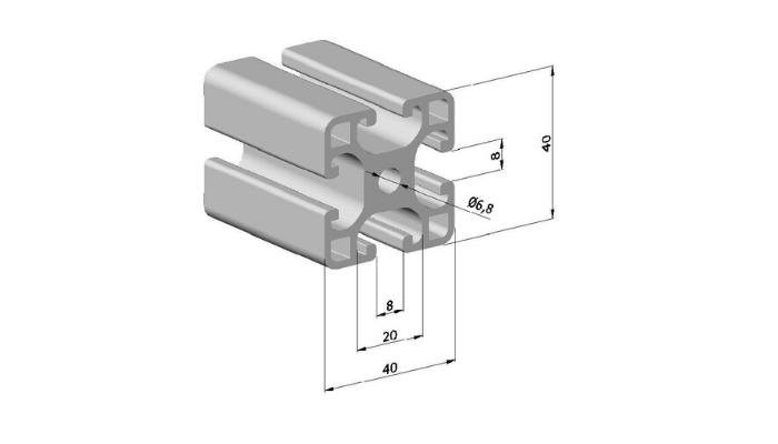 Profile System Struts 40x40mm